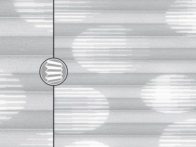 faltstorestoff molino grau muster aus kreisen im gewebe - Plissee Muster