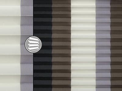 blockstreifen teba plissee 5447. Black Bedroom Furniture Sets. Home Design Ideas