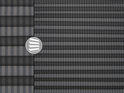 uni streifen grau teba plissee 5451. Black Bedroom Furniture Sets. Home Design Ideas