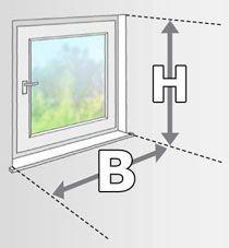 Hervorragend FAQ: Plissee Montage - Fenster und Nischen ausmessen | plissee1fach.de PS28